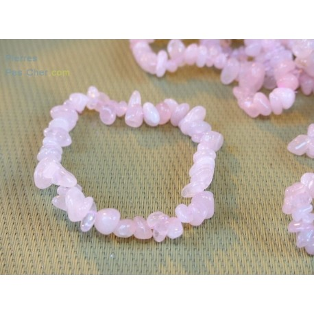 Quartz Rose Bracelet Baroque