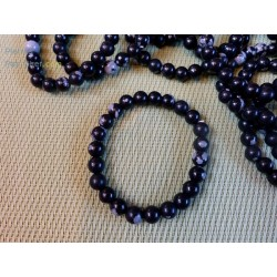 Obsidienne Flocon de Neige Bracelet en Perles de 8mm