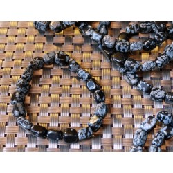 Obsidienne Flocon de Neige Bracelet Pierres