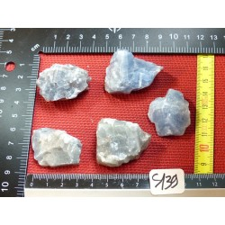 Calcite Bleue Lot de 5 Pierres Brutes 129g