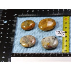 Agate Crazy Lace Lot de 4 Pierres Plates Mini 46g